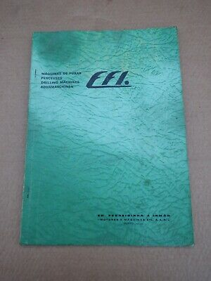 Original Efi Drilling Machine Type Fg2 Service Manual • 20£