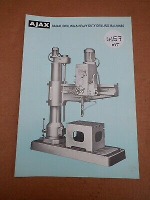 Ajax Drilling Machine Sales Leaflet • 10£