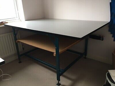 Fabric Cutting Table Formica Top 4ft X 6ft. Height 3ft Adjustable Work Bench • 50£