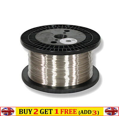 99% Pure Nickel Ni Nickle Metal Wire Dia 0.1-1mm Anode Material 10m /roll • 18.47£