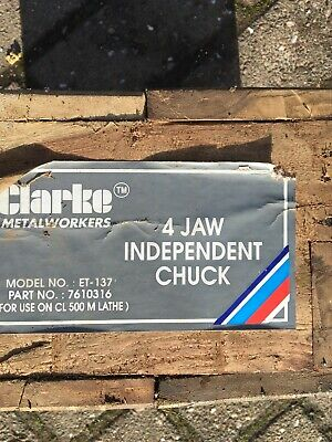 Clarke Metalworkers 4 Jaw Independent Chuck For Use On Cl500m Or Cl430 Lathes • 150£