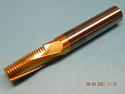 Solid Carbide Thread Mill 18UNF Tin Coated 12mm Shank 84mm O/all 25mm Flute L#2 • 45£