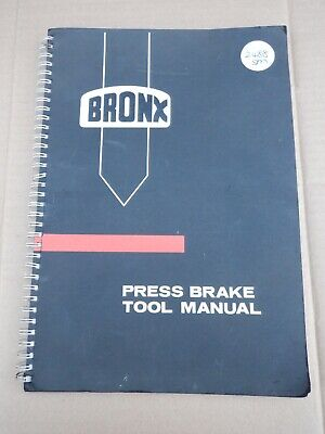 Bronx Press Brake Tool Manual In Good Condition • 50£