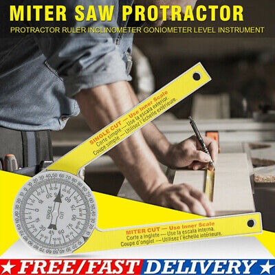 Miter Saw Protractor Angle Finder Goniometer Measuring Ruler Tool Protable UK • 7.95£