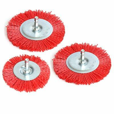3Pcs Abrasive Wire Wheel Brushes Assorted Nylon Brush Set 3Inch/4Inch For D O6C9 • 12.73£