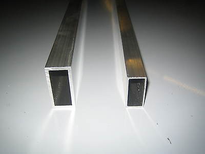 Aluminium Rectangle Tube Section Multiple Sizes And Lengths 6082T6 6063T6 • 53.57£