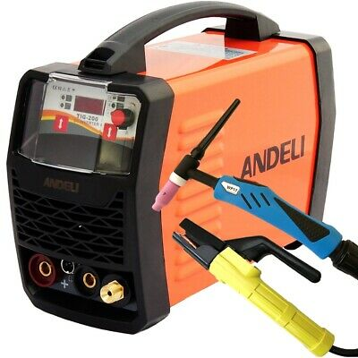 200amp Igbt Hf Ignition Tig/mma Dc Inverter Welder 2 In 1 Machine Duty Cycle 60% • 206.79£