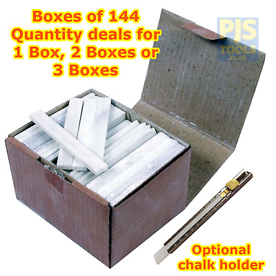 144 X Flat Rectangular Engineers French Chalk Welders Sticks 1, 2 Or 3 Boxes • 23.50£