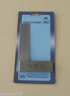 PRECISION ENGINEERS SQUARE 4  / 100mm MOORE & WRIGHT SHEFFIELD UK • 24.79£