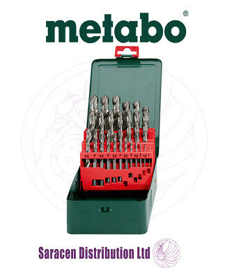 Metabo Hss-g 25 Piece Drill Bit Set In Metal Case, 1 To 13mm - 627154000 • 19.95£