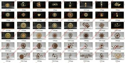 50 Nice Clocks Design ALL COLLECTION DXF, EPS File For CNC Plasma, Router, Laser • 64.40£