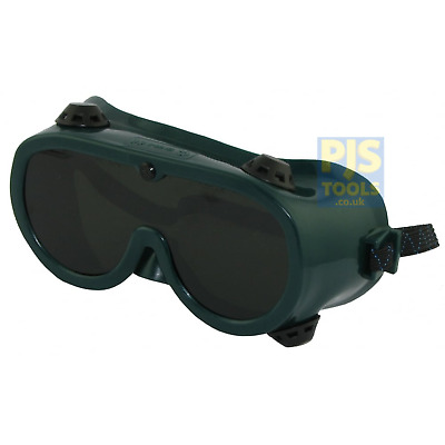 Panorama Shade 5 Green Gas Welding & Brazing Goggles Indirect Vent • 6£
