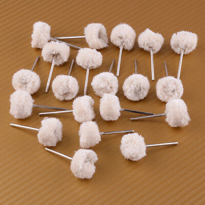 20pcs Dental Wool Brushes Polishing Buffing Wheels Rotary Tools • 6.37£