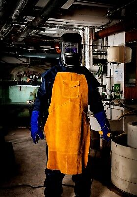 Welding Apron, Full Cowhide Leather. Portwest, Flame Retardant, Protection,  • 19.95£