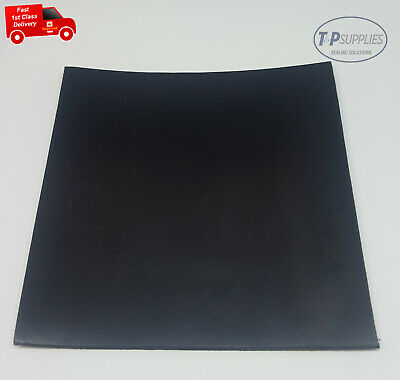 Solid Black Neoprene Rubber Sheet 10mm Thick Various Sizes • 13.92£