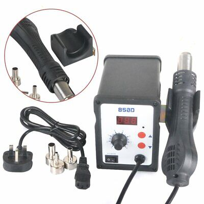220V Hot Air Desoldering Rework Station Heat Gun Solder Iron 3 Stainless Nozzles • 33.99£