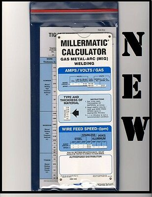 Miller Welding Calculators -New!- 3 Pack (Mig, Tig, Stick) W/ Sleeve -FREE SHIP! • 7.06£