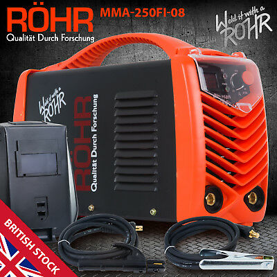 ARC Welder Inverter MMA 240V 250amp DC Portable Stick Welding Machine - ROHR 08 • 159.99£