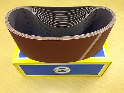 610 X 100 Hermes Portable Cloth Belts Pls Select Grade (10 Per Box) P60 - P240 • 23£
