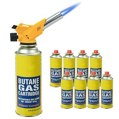 New Multi-Purpose Blow Torch Butane Gas Kit Auto Ignition Camping Welding BBQ • 28.98£