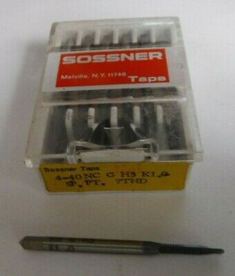 4 40 NC Tap Sossner HS G H3 K1.0 Spiral Point 7 Thread Lead • 10.95£