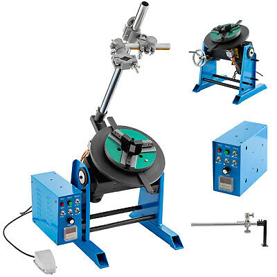 50KG Rotary Welding Positioner Turntable Timing 200mm Chuck Torch Holder 80W • 544.99£