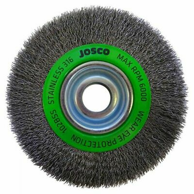 Josco MULTI-BORE STAINLESS STEEL CRIMPED WIRE WHEEL BRUSH- 150x19mm Or 200x19mm • 89.69£