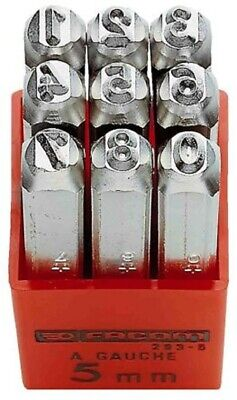 Facom DIGIT PUNCHES SET 293A.5 9-Pieces 75mm Length, 5mm Shank • 75.92£
