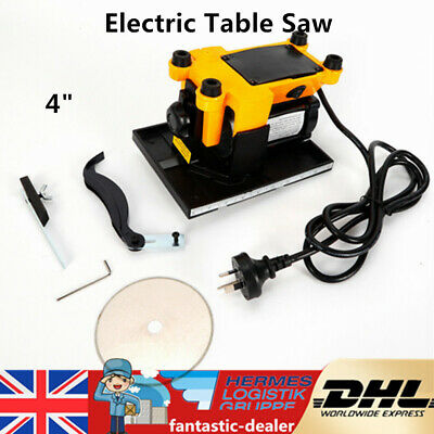 Electric Table Saw Plastic Wood Glass Stone Cutting Sawing Machine 4  Blade NEW • 42.60£