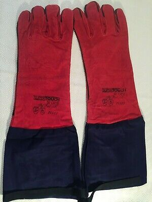 Supertouch 20923 Extended Red Leather Welders Gauntlets With Upper Arm Guard • 9.99£