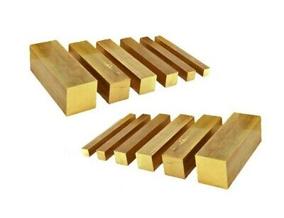 Brass Solid Square Bar. 6.35mm -> 25.4mm. 300mm Lengths. CW614N/CZ121  • 9.15£