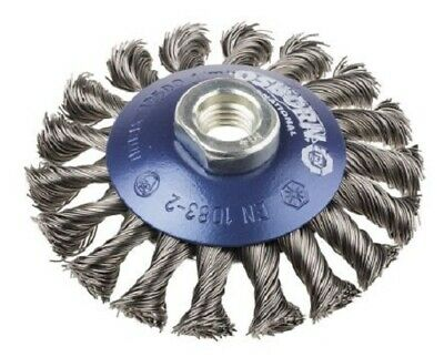 RS Pro STEEL ABRASIVE BEVELLED BRUSH 100mm M14x2 Twisted Wire 12500rpm • 42.36£