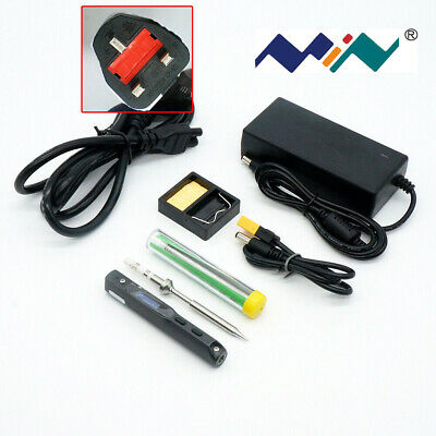 Mini Digital Soldering Iron TS100 B2 BC2 I Tip Set & Power Supply & Accessory • 63.99£