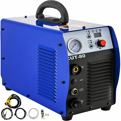 CUT-80 80A Air Plasma Cutter Machine Inverter Cutter Touch Pilot Arc 110-220V • 375.98£