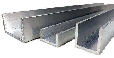 Aluminium U Channel C Profile Various Sizes Up To 1000mm Lenght • 2.70£