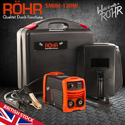 ROHR SMINI-120NI ARC Welder Inverter 240V 120amp MMA DC Portable Stick Welding • 59.99£