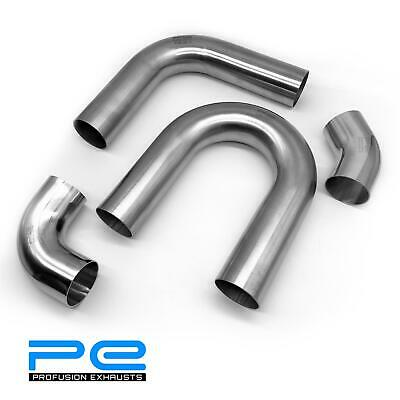 304 Stainless Steel 1D / 1.5D 45 90 180 Degree Profusion Mandrel Exhaust Bend • 25.95£