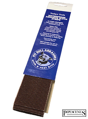 PACK OF 10 - Abrasive Copper Pipe Cleaning / Deburring Strips - 250mm X 50mm  • 4.59£