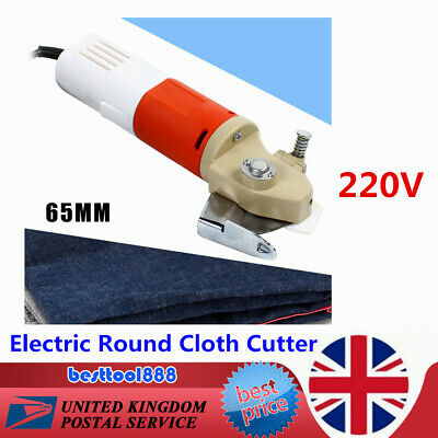 65mm Electric Rotary Cloth Cutter Round Fabric Leather Scissors Cutting Machine  • 43.50£