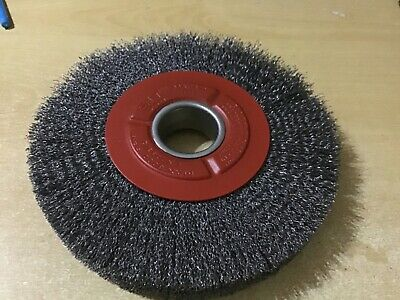 NEW SIT Bench Wheel Wire Wheel Brush 200 X29mm 38mm Core Deburring Bench Grinder • 24£