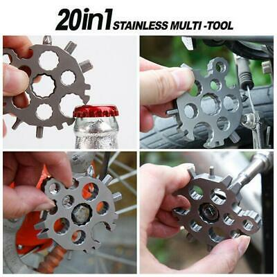 20 In1 Stainless Multi-tool Snowflake Keychain Screwdriver Bottle Opener • 4.31£
