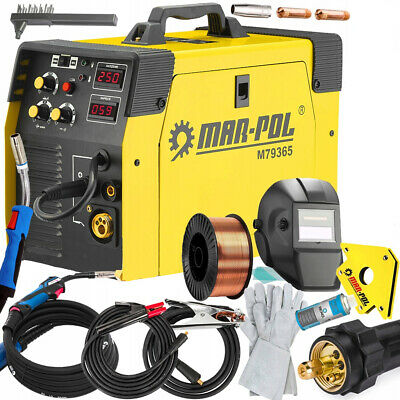 PROFESSIONAL WELDING Machine MIG MAG MMA TIG 250A 3in1+KIT FREEBIES • 412.02£