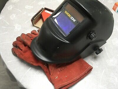 Magnetic Welding Clamp Set CHT-117 With Welding Gloves & Helmet Used • 18£