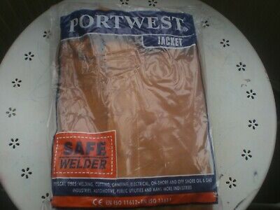 Portwest SW34 Leather Welding Jacket Class 2 Protection Flame Resistant SIZE XXL • 39.99£