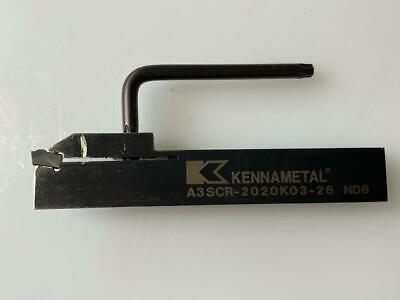 Kennametal Parting Off Part-Off Tool Holder A3SCR-2020K03-26 ND6 Lathe 52mm DIA  • 39.50£