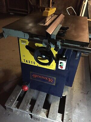 Sedgwick Ta315 Benchsaw Single Phase Converted • 1,000£