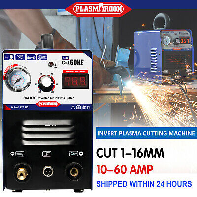IGBT CUT60 Plasma Cutter Machine 220V 60Amps 3/4'' Clean Cut & AG60 Torch • 225£