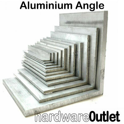 ALUMINIUM Extruded Equal ANGLE - Various Sizes - 300mm - 800mm Long  • 11.55£