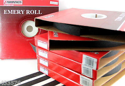 25 Mm Wide EMERY ROLL 50 Mtr - All Grits  Emery Paper Sandpaper - Metalworking • 23.49£