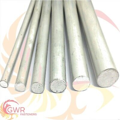 Aluminium Round Bar Rod 6082 T6 Various Lengths / Sizes 1/4  To 2   • 21.77£